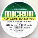 Cortland Micron Yellow Fly Line Backing - 30 LB 150 YDS