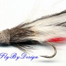 White Marabou Muddler Minnow Fly Twelve -  Size 6 Flies