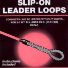 Cortland 30LB Slip-On Clear Leader Loops For 2-7wt Line
