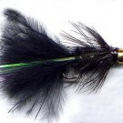 Bead Head Black Woolly Bugger Fly Twelve Hook Size 16