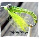 Crazy Charlie Twelve Chartreuse Saltwater Flies Size 4