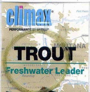 Climax 7.5 ft - 0x Trout Freshwater Fly Fishing Leader