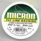 Cortland Micron Yellow Fly Line Backing - 20 LB 50 YDS
