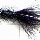 Black Woolly Bugger - Twelve Size 8 Fly Fishing Flies