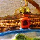 Colorful Fishing Creel Christmas Tree Ornament