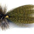 Hornberg Olive Dry Fishing Flies - Twelve Hook Size 12