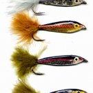 Janssen Minnow Twelve Assorted Size 6 Fly Fishing Flies