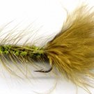 Olive Wooly Bugger Fly Fishing Fly -One Hook Size 4 Fly