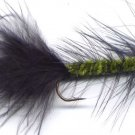Olive/Black Wooly Bugger Fishing Fly One Hook # 4 Fly