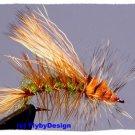 Olive Stimulator - One Dozen Size 12 Fly Fishing Flies