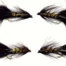 Twelve Black/Olive Woolly Bugger #8 Fly Fishing Flies
