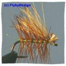 Olive Elk Hair Caddis Dry Fly Twelve Size 14 Fish Flies