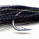 Clouser Black Minnow Six Fly Fishing Flies Size 2/0