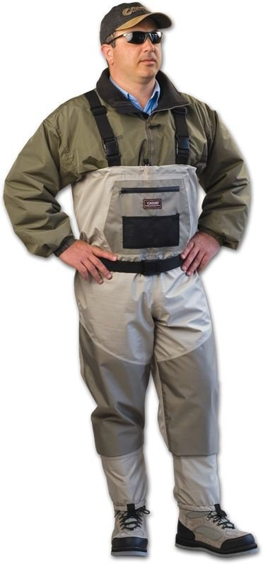 Caddis deluxe breathable stockingfoot chest waders for Men s fishing waders