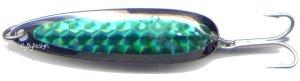 Luhr-Jensen Krocodile 3/4 oz Green Prism Wobbler Spoon