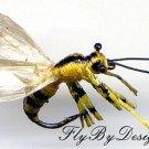 Six Realistic NEW Yellow Jacket Bee Fly Fishing Flies