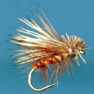 Tan Elk Hair Caddis Dry Fly Fishing Flies - Choice of Hook Size