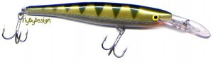 "Rapala ""Deep Runner"" Yellow PERCH Minnow Rap (MR09-YP) Fishing Lure"