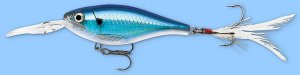 Rapala X-RAP Shad Blue Back Shiner (XRSSS08 BBS) NEW Fishing Lure w/SureSet Hook