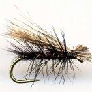 Black Elk Hair Caddis Fly Fishing Flies - Twelve NEW Premium Choice of Hook Size