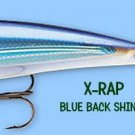 Rapala Blue Back Shiner X-RAP Suspending Lure (XRSS12 BBS) with VMC SureSet Hook