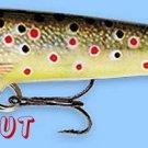 "Rapala 2"" F05 TR Original Floating BROWN TROUT Balsa Wood Fishing Lure"