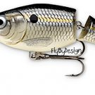 Rapala Jointed (JSR04 SSD) Suspending Rattlin' Silver Shad Rap Fishing Lure