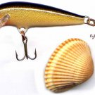 """Rapala Gold Original Floating 2"""" Wounded-Minnow Fishing Lure F5 G with Papers"""