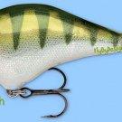 "Rapala FAT 2-3/4"" Rattling Balsa Yellow Perch Fishing Lure Dives to 1 Foot"