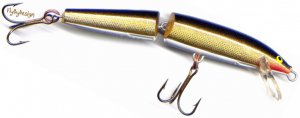 NEW Rapala Gold J05-G Jointed Balsa Floating Fishing Lure