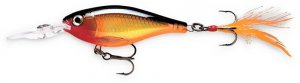 Rapala GOLD X-RAP Shad (XRS06 G) Suspending Slashbait Fishing Lure