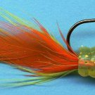 Apex Chartreuse & Orange Feather Jigs (4-pak) for Bass, Trout & Walleye
