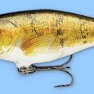Rapala Walleye Balsa Natural Shad Rap Baitfish Fishing Lure (SR08 W)