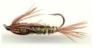 Halfback Nymph - Twelve Fly Fishing Flies - Choice of Hook Size