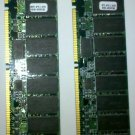 DIMM RAM Memory PC100: Pair of 64 Megabyte Sticks