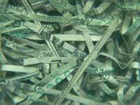 Old Shredded Money Jar / Paperweight