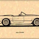 1953 Corvette Roadster Profile