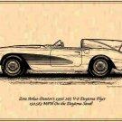 "1956 265 V-8 Corvette ""Duntov's 150.583-MPH Daytona Flyer"" Profile"