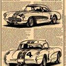 """1957 RPO 684 Corvette """"The First Corvette Racer Kit"""" Illustrated Series No. 145"""