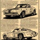 1963 Z06 Gulf One Corvette Illustrated Series No. 152