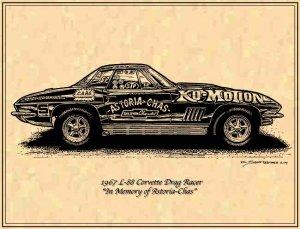 "1967 L-88 Corvette Drag Racer ""In Memory of Astoria-Chas"" Profile"