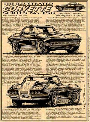 "1967 FS&O 427 Corvette ""Bob Wingate's V.I.P. Special"" Illustrated Series No. 158"