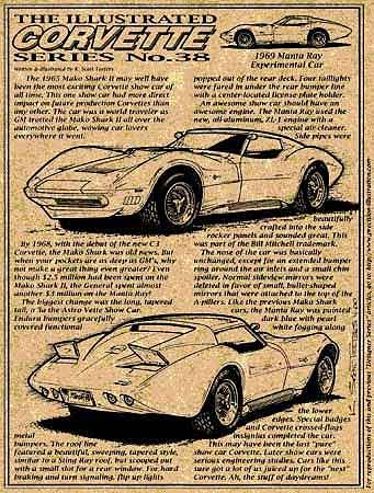 1969 manta ray show car corvette illustrated series no 38. Black Bedroom Furniture Sets. Home Design Ideas