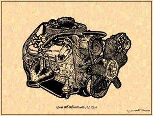 1969 Corvette Stingray  on 1969 All Aluminum Big Block 427 Zl 1 Engine