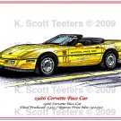 1986 Corvette Pace Car Laser Color Print