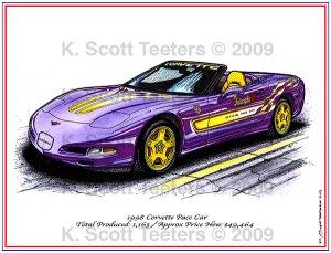 1998 Corvette Pace Car Laser Color Print