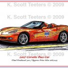 2007 Corvette Pace Car Laser Color Print