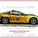 2008 Corvette E85 Pace Car Laser Color Print