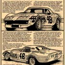 John Greenwood's 1972 B.F. Goodrich Racing Corvette Illustrated Series No. 49