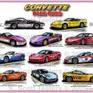 Corvette Pace Car Montage Laser Color Print